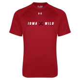 Under Armour Cardinal Tech Tee-Iowa Wild Crossed Sticks