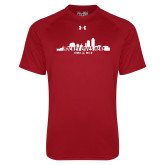 Under Armour Cardinal Tech Tee-Hockey Lives Here Cityscape Cutout