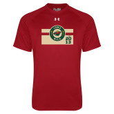 Under Armour Cardinal Tech Tee-Iowa Wild Block Design