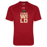 Under Armour Cardinal Tech Tee-Iowa Wild Stacked