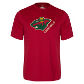 Syntrel Performance Cardinal Tee-Iowa Wild w Bear Head