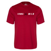 Performance Cardinal Tee-Iowa Wild Crossed Sticks