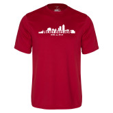 Performance Cardinal Tee-Hockey Lives Here Cityscape Cutout