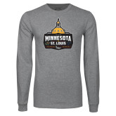 Grey Long Sleeve T Shirt-Minnesota vs St Louis