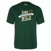 Performance Dark Green Tee-Iowa Wild Banner Design