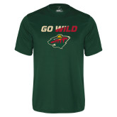 Performance Dark Green Tee-Go Wild