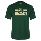 Performance Dark Green Tee-Iowa Wild Block Design