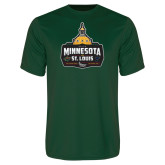 Performance Dark Green Tee-Minnesota vs St Louis