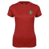Ladies Syntrel Performance Cardinal Tee-Secondary Mark