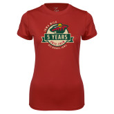 Ladies Syntrel Performance Cardinal Tee-5 Years