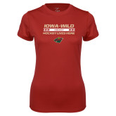 Ladies Syntrel Performance Cardinal Tee-Hockey Lives Here