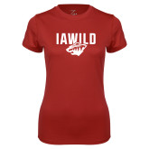 Ladies Syntrel Performance Cardinal Tee-IAWILD