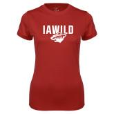 Ladies Syntrel Performance Cardinal Tee-IAWILD