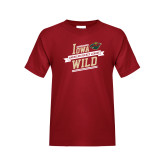 Youth Cardinal T Shirt-Iowa Wild Banner Design