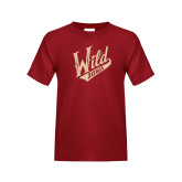 Youth Cardinal T Shirt-Primary Mark Distressed