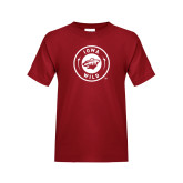 Youth Cardinal T Shirt-Iowa Wild Seal One Color