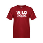 Youth Cardinal T Shirt-Wild Hockey