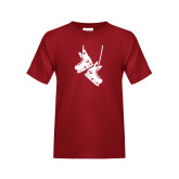 Youth Cardinal T Shirt-Skates