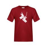 Youth Cardinal T Shirt-Skates