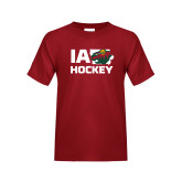 Youth Cardinal T Shirt-IA Hockey w State