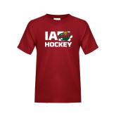 Youth Cardinal T Shirt-IA Hockey w State