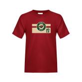 Youth Cardinal T Shirt-Iowa Wild Block Design