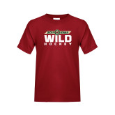 Youth Cardinal T Shirt-Wild Hockey Banner