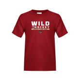 Youth Cardinal T Shirt-Wild Hockey w Primary Mark