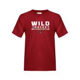 Youth Cardinal T Shirt-Wild Hockey w Primary Mark