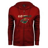 ENZA Ladies Cardinal Fleece Full Zip Hoodie-Go Wild
