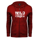 ENZA Ladies Cardinal Fleece Full Zip Hoodie-Wild Hockey