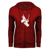 ENZA Ladies Cardinal Fleece Full Zip Hoodie-Skates