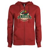 ENZA Ladies Cardinal Fleece Full Zip Hoodie-5 Years