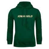 Dark Green Fleece Hood-Iowa Wild Flat
