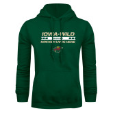 Dark Green Fleece Hood-Hockey Lives Here