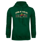Dark Green Fleece Hood-Iowa Wild Arched
