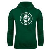 Dark Green Fleece Hood-Iowa Wild Seal One Color