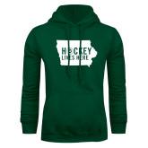 Dark Green Fleece Hood-Hockey Lives Here State