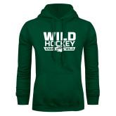 Dark Green Fleece Hood-Wild Hockey