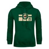 Dark Green Fleece Hood-Iowa Wild Block Design