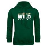 Dark Green Fleece Hood-Wild Hockey Banner
