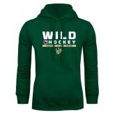 Dark Green Fleece Hood-Wild Hockey w Primary Mark