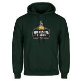 Dark Green Fleece Hood-Minnesota vs St Louis