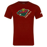 Adidas Cardinal Logo T Shirt-Iowa Wild w Bear Head