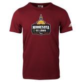 Adidas Cardinal Logo T Shirt-Minnesota vs St Louis