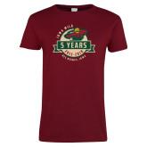 Ladies Cardinal T Shirt-5 Years