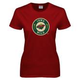 Ladies Cardinal T Shirt-Secondary Mark