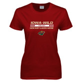 Ladies Cardinal T Shirt-Hockey Lives Here