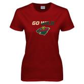 Ladies Cardinal T Shirt-Go Wild