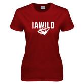 Ladies Cardinal T Shirt-IAWILD